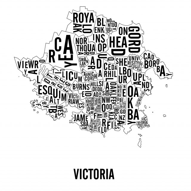 Victoria BC Neighbourhoods City Maps