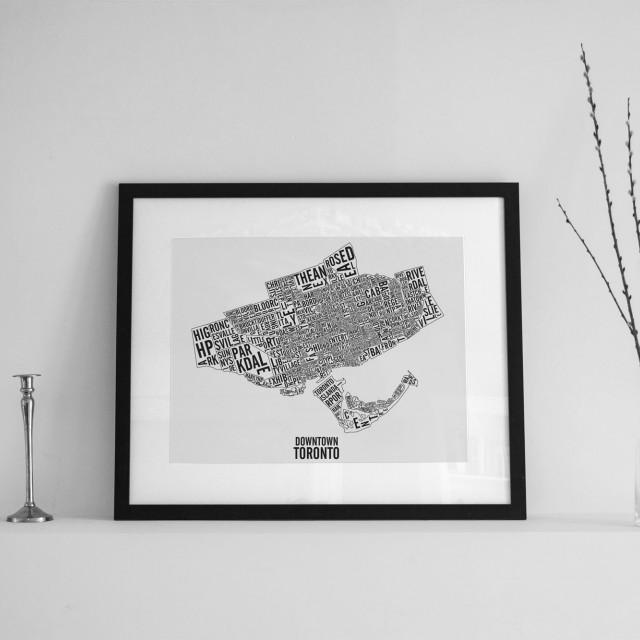 Carte des quartiers & repères du centre-ville de Toronto