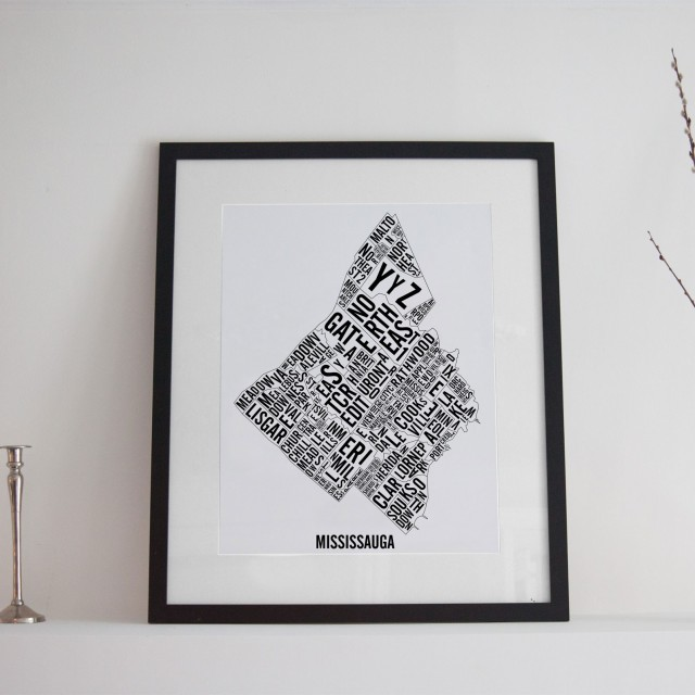 Mississauga City Map - Handmade Poster