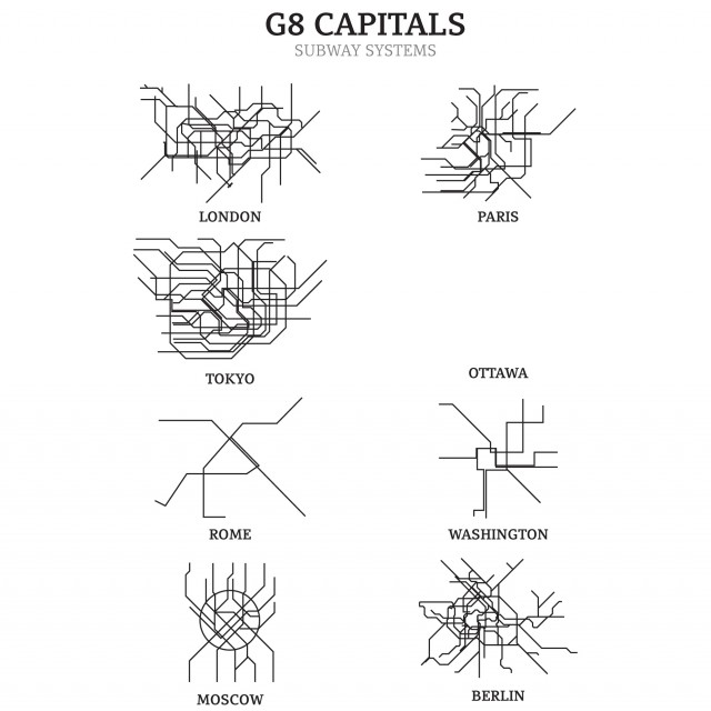 Subway Systems of the Capitals of the G8 Countries