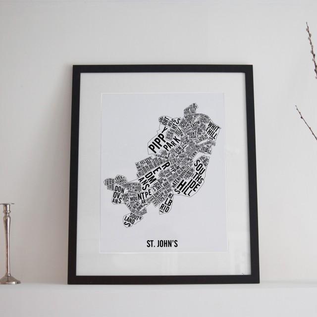 Carte des quartiers de St. John