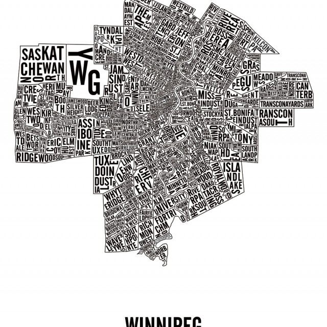 Winnipeg, Manitoba, Neighbourhoods City Map