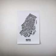 Typographic Map of Downtown Montreal Neighbourhoods & Landmarks