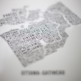 Poster of the Typographic Map of Ottawa-Gatineau