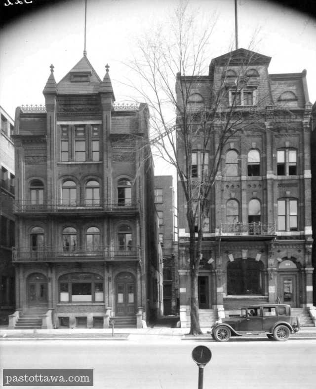 the 96 to 102 Wellington Street in Ottawa before the American Ambassy was built