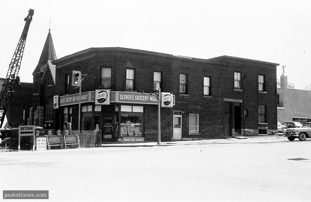 Former 165 Booth Street in Lebreton Flats in Ottawa in 1962