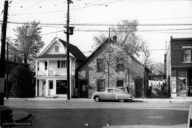 Rue St-Patrick près de l'avenue King-Edward vers 1960