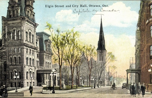 Elgin Street and Knox Church and City Hall