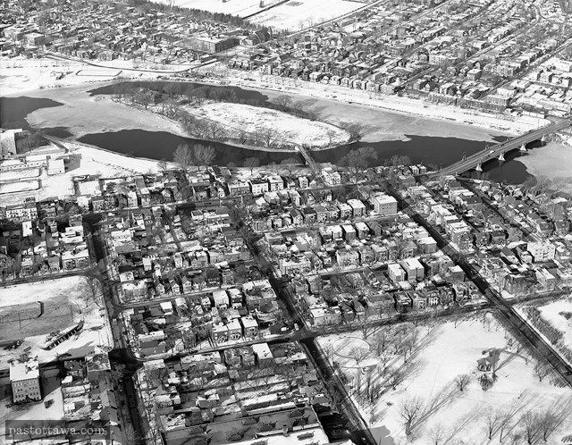 Aerial View of Lowertown East in Ottawa around 1950