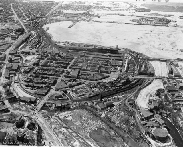 Aerial View of Lebreton Flats around 1960