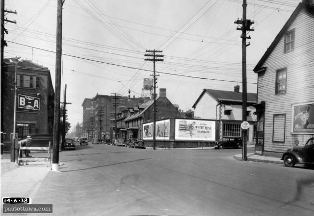 rue Albert à la hauteur de la rue Metcalfe à Ottawa en 1938