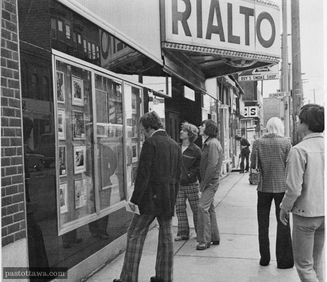 People in front of the Rialto in Ottawa around 1970