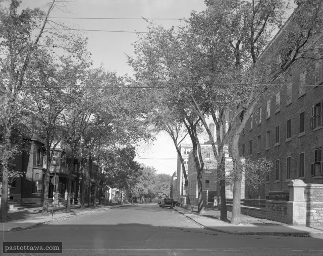 Cathcart Street at Sussex drive in 1938