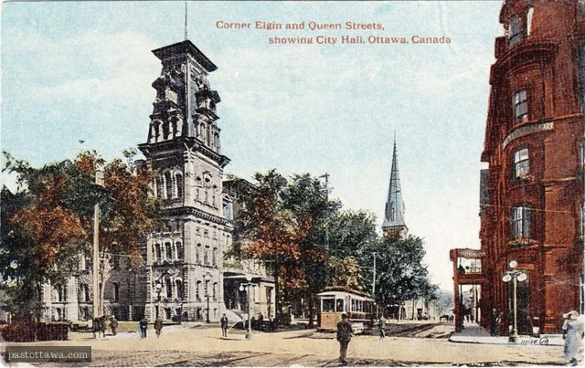 Elgin Street with the City Hall and the Grand Union Hôtel