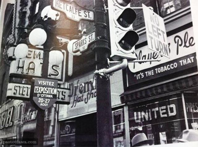 Intersection Sparks et Metcalfe en 1951