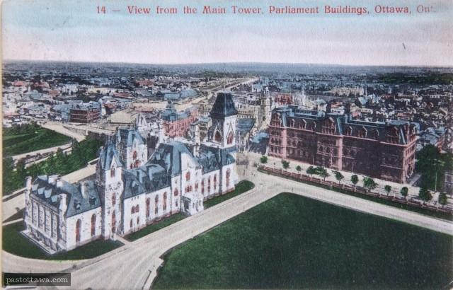 Vue sud-est du centre-ville d'Ottawa en 1900