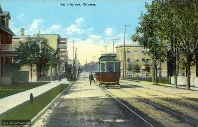 Elgin street near gladstone in 1920