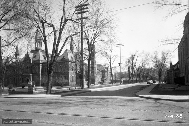 Lisgar and Elgin street intersection in Ottawa in 1938