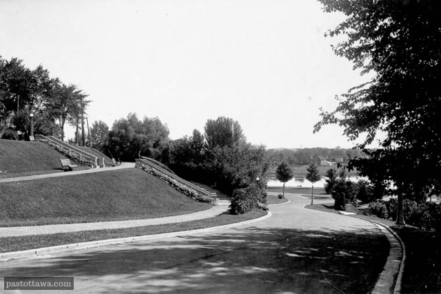 Stairs at Strathcona Park in Ottawa around 1900