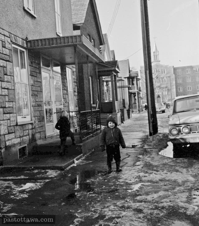 Ancienne Rue Notre-Dame dans la basse-ville d'Ottawa en 1968