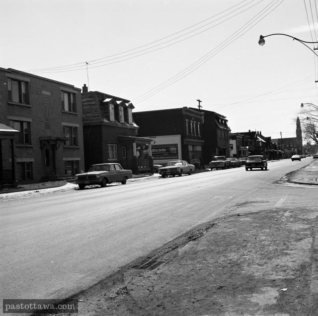 Ancienne rue Saint-Patrick en basse-ville Est d'Ottawa en 1968