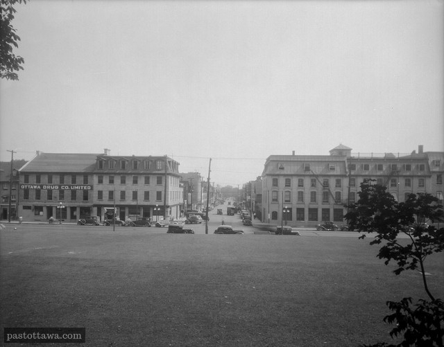 Field in front of Clarence street and Sussex Drive in 1938