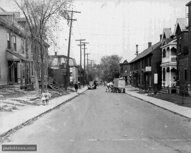 Bay Street looking north near Lisgar in Ottawa in 1938