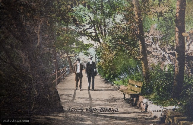Lovers' walk in 1900
