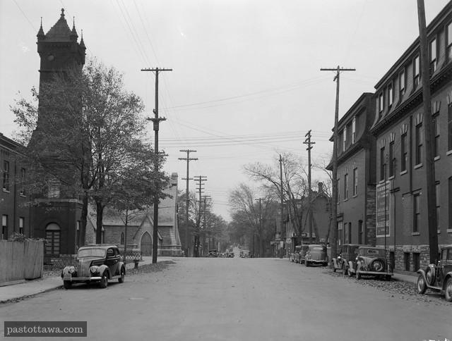 Rue Lyon à la hauteur de Queen en 1938 regard pointé vers le sud