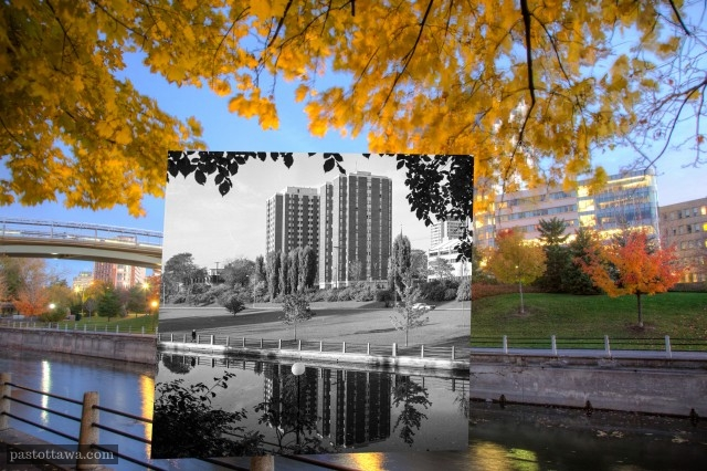 Stanton and Marchand residences with the Rideau Canal.