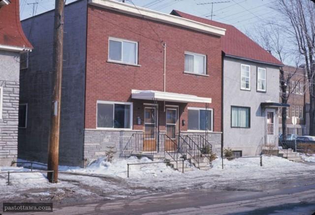Modestes demeures de la rue Friel à Ottawa