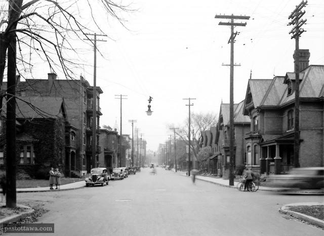 rue O'Connor à la hauteur de la rue Lisgar à Ottawa en 1938