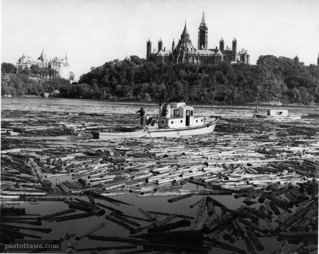 Ottawa River With Parliament Hill 1963 Versus 2013