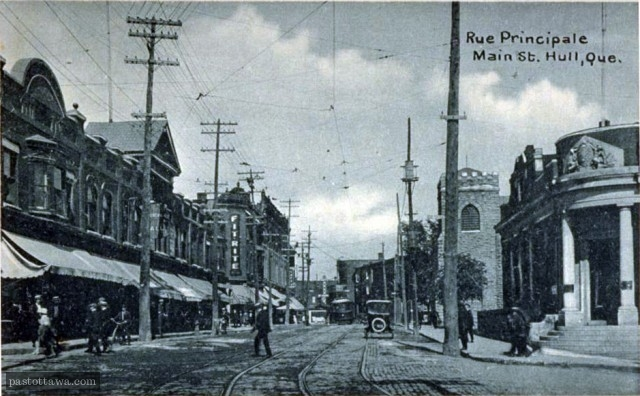 Former Main Street in Hull around 1910