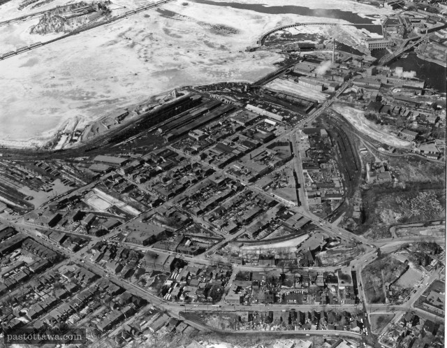 Aerial View of LeBreton Flats around 1950