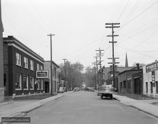 Rue Queen près de Lyon en 1938