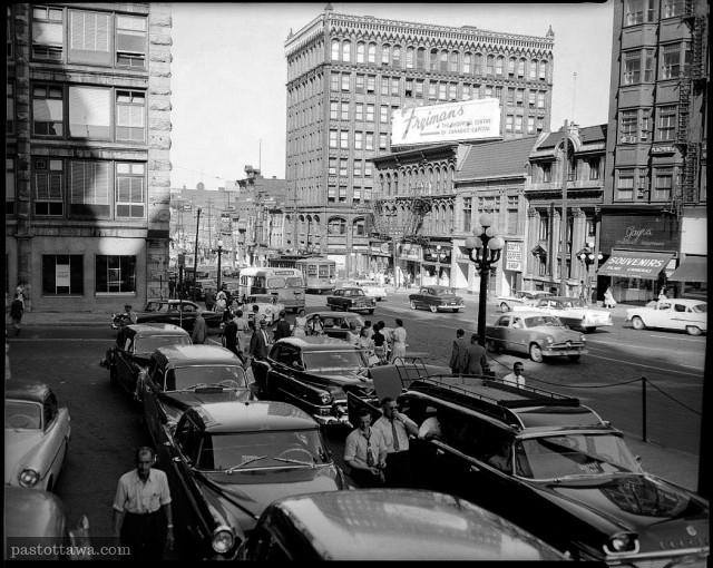 Rue Rideau dans les années 50