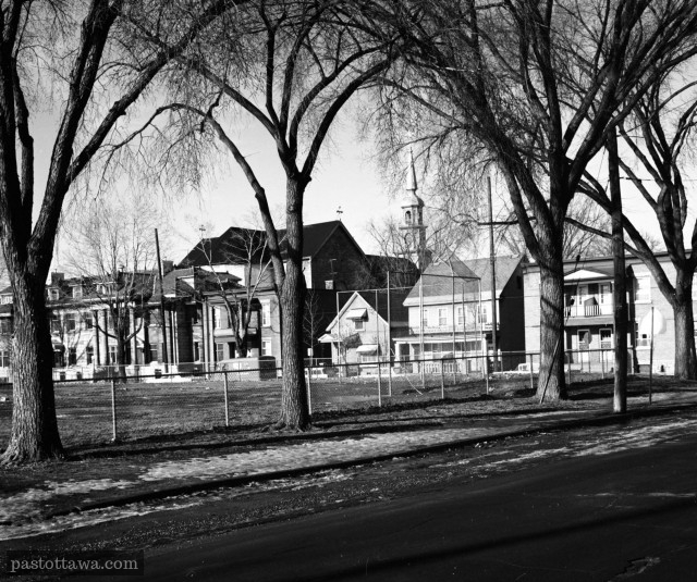 Myrand Street and Jules-Morin Park in 1968