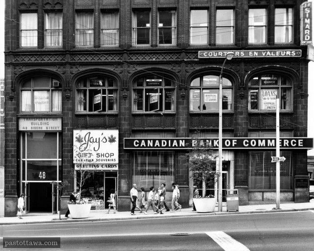 Corner of Rideau and Sussex around 1975