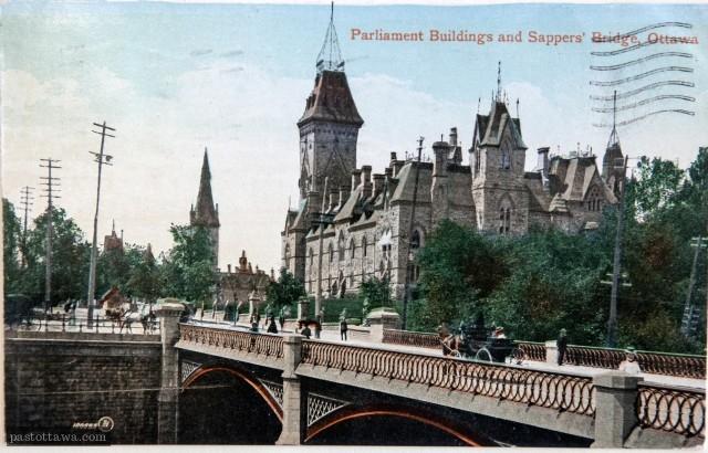 Pont Sappers à Ottawa vers 1910