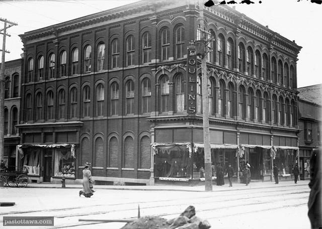 Le magasin général Poulin en 1909