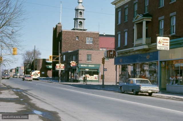 Rue Saint-Patrick à Ottawa en 1968