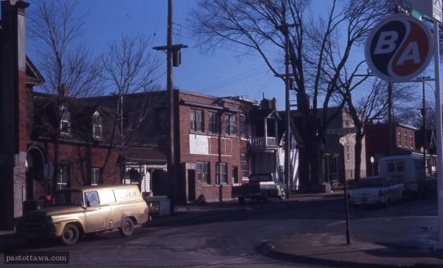 rue Cobourg et Saint-Patrick en Basse-ville Est d'Ottawa en 1968