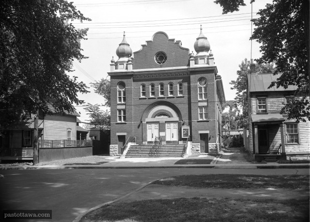 Synagogue on King-Edward in Ottawa around 1950.