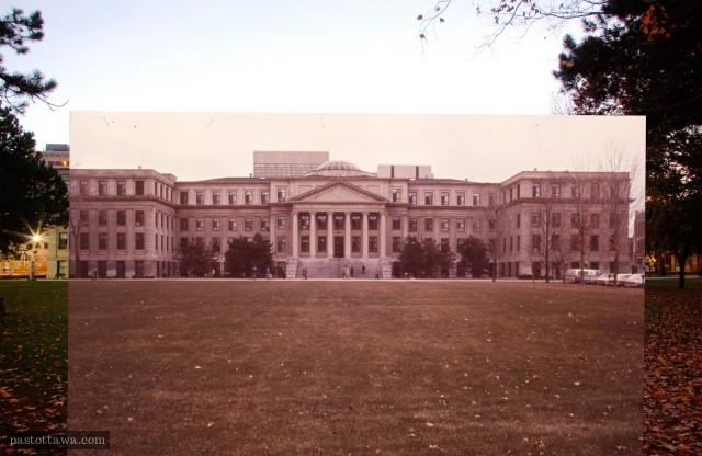 Pavillon Tabaret de l'Université d'Ottawa dans les années 1970