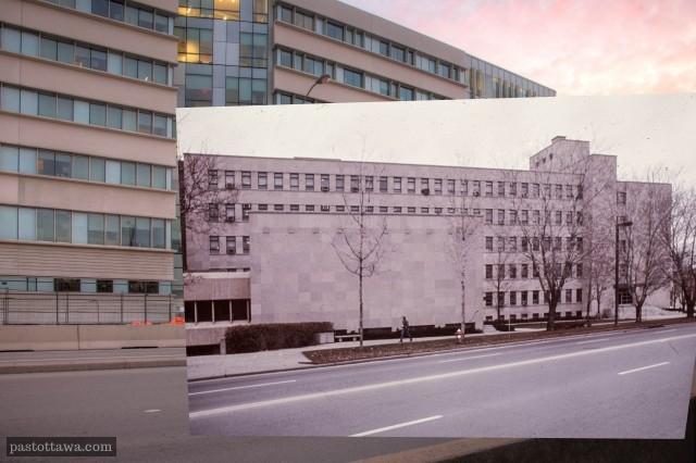 Pavillon Vanier à l'Université d'Ottawa en 1970.