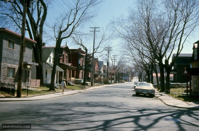 Nelson and York Intersection in Lowertown East in Ottawa in 1968
