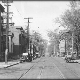 Rue Elgin regard vers le nord en 1938
