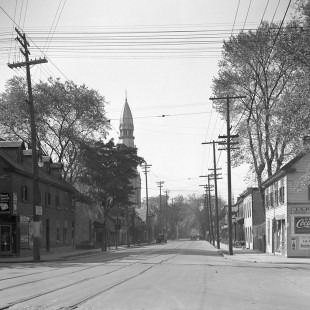 St-Brigid Church with St. Patrick Street and King-Edward avenue in 1938