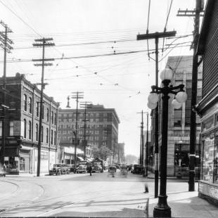rue Albert à la hauteur de Bank à Ottawa en 1938